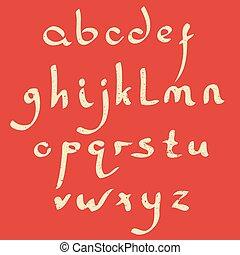 Vector handmade Roman alphabet