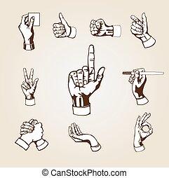 Vector hands.