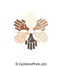 Vector hands unity logo