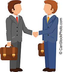 Vector Handshake Man Flat Icon