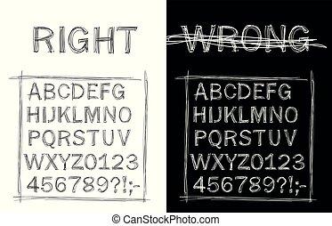 Handwritten sloppy style font - Vector Handwritten sloppy ...