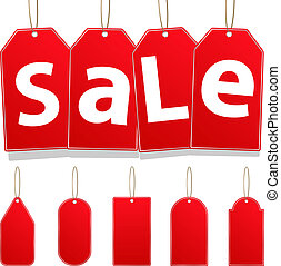 Vector Hanging Sale Tags