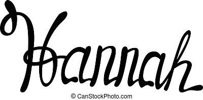 Vector Hannah name lettering