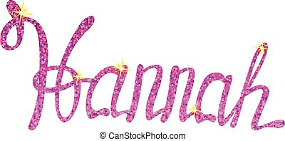 Vector Hannah name lettering tinsels