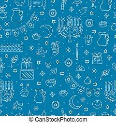 Hanukkah seamless pattern - Vector Hanukkah seamless pattern...