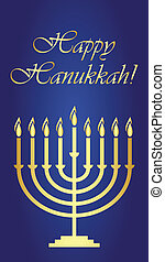 Vector Hanukkah wish card
