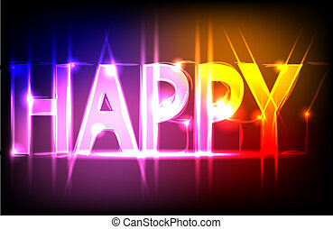 happy. Abstract background