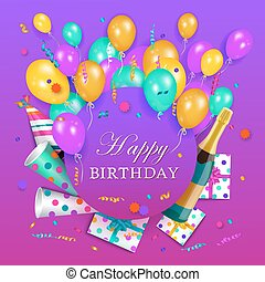 vector happy birthday banner poster template vector happy birthday