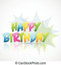 happy birthday card with blast