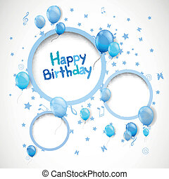 Vector Happy Birthday Greeting Card