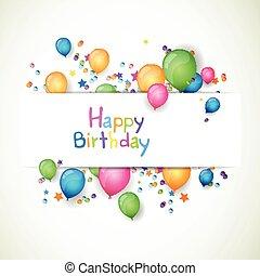 Vector Happy Birthday Greeting Card
