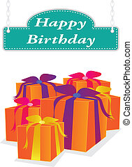 vector happy birthday label