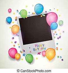 Vector Happy Birthday Photograph