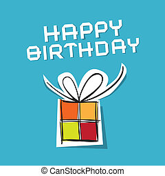 Vector Happy Birthday to You Theme on Blue Background