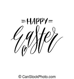 Happy easter calligraphy logotypes holiday logos set holiday vector happy easter calligraphy on white background religious holiday hand lettering for greeting card m4hsunfo