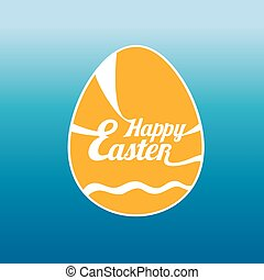 vector Happy Easter Typographical Background.