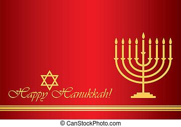 Happy Hanukkah - Vector Happy Hanukkah wish card
