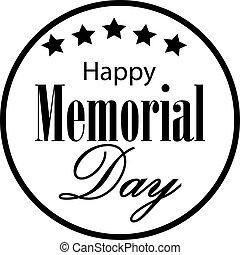 Vector Happy Memorial Day card.
