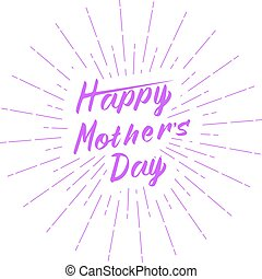 Vector Happy Mother's Day greeting card template. Isolated on white background.
