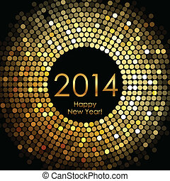 Happy New Year 2014 - Vector - Happy New Year 2014 - gold ...