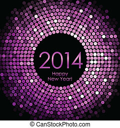 Happy New Year 2014 - Vector - Happy New Year 2014 - purple...