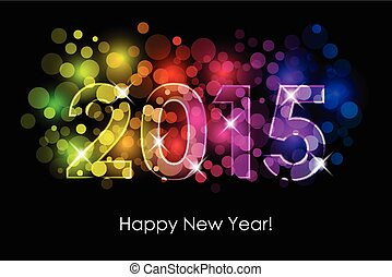 New Year - 2015 colorful background