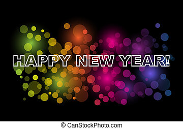 Happy New Year - Vector Happy New Year background