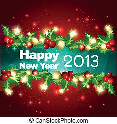 vector happy new year design