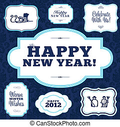Vector Happy New Years Frame Set. Easy to edit. Perfect for...