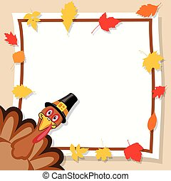 vector happy thanksgiving day card