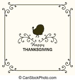 Vector Happy Thanksgiving Design