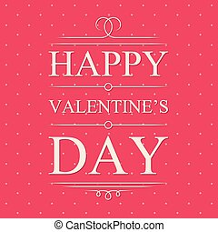 Vector happy valentines day card