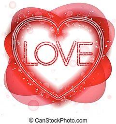 Happy Valentine's Day Neon Heart
