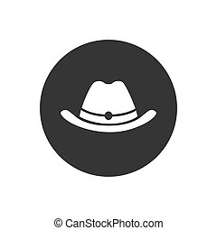Vector hat white icon in flat style