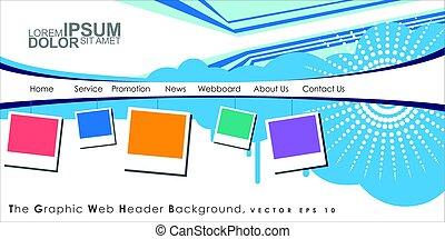 Vector Header Horizontal Web Menu Design.