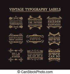 Vector headline calligraphic decorations set - Vintage...
