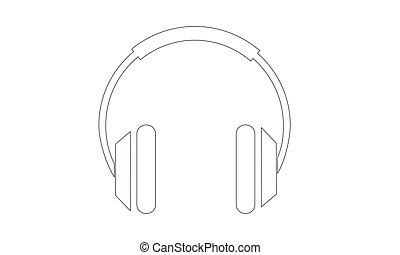Vector - Headphones - Outline - Vektor - Kopfhoerer - Kontur...