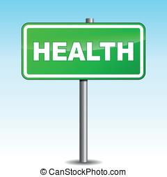 Vector health signpost