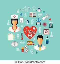 Vector healthcare concept