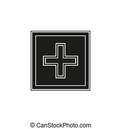 vector healthcare sign - health plus - help logo