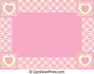 Vector Heart Border with Copy Space