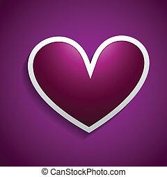 vector heart design background