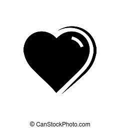 Vector Heart Icon black color