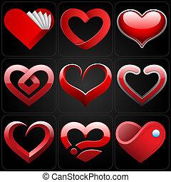 Heart Icons Set