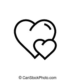 Vector Heart Mini Icon Black Color