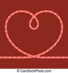 Vector heart rope frame