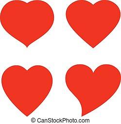 Vector heart shape icon