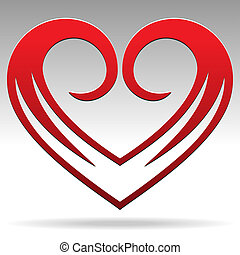 Heart Shape Sign - Vector Heart Shape Sign