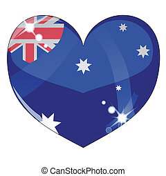 Vector heart with United Kingdom flag texture