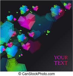 Vector hearts card